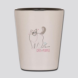 Ragdoll cats are greater than people Shot Glass