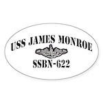 USS JAMES MONROE Sticker (Oval)