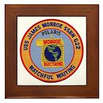 USS JAMES MONROE Framed Tile