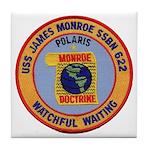 USS JAMES MONROE Tile Coaster