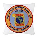 USS JAMES MONROE Woven Throw Pillow