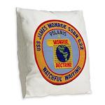 USS JAMES MONROE Burlap Throw Pillow