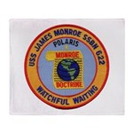 USS JAMES MONROE Throw Blanket