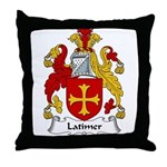 Latimer Family Crest Throw Pillow