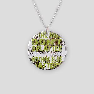 Mud Splatter Boggin Design Necklace Circle Charm