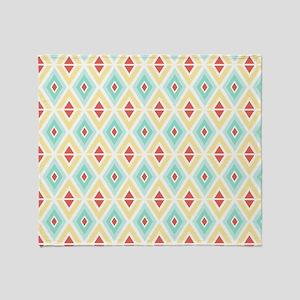 Abstract Pastel Geometric Pattern Throw Blanket