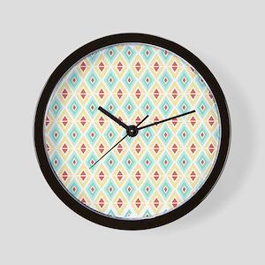 Abstract Pastel Geometric Pattern Wall Clock