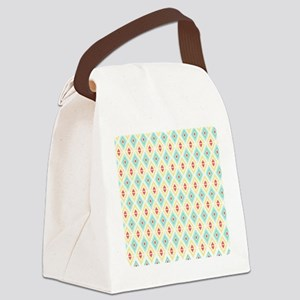 Abstract Pastel Geometric Pattern Canvas Lunch Bag