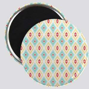 Abstract Pastel Geometric Pattern Magnet