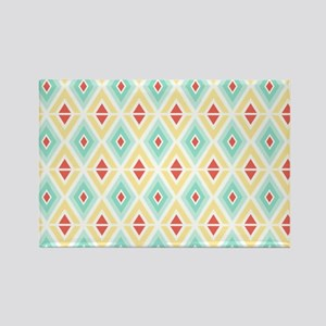 Abstract Pastel Geometric Pattern Rectangle Magnet