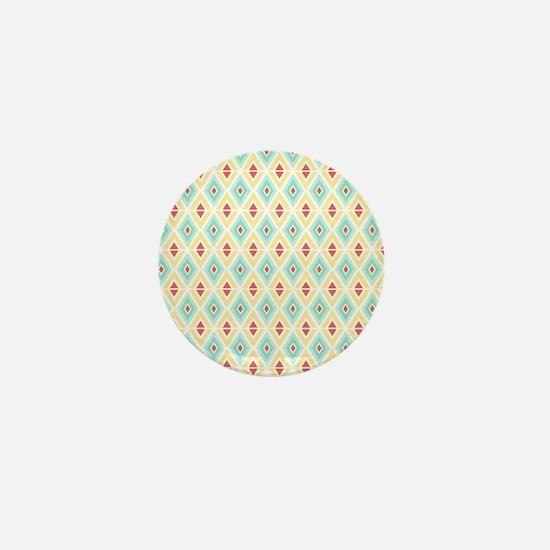 Abstract Pastel Geometric Pattern Mini Button