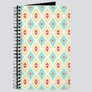 Abstract Pastel Geometric Pattern Journal