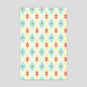 Abstract Pastel Geometric Patter Mini Poster Print