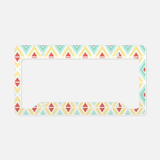 Abstract Pastel Geometric Pat License Plate Holder