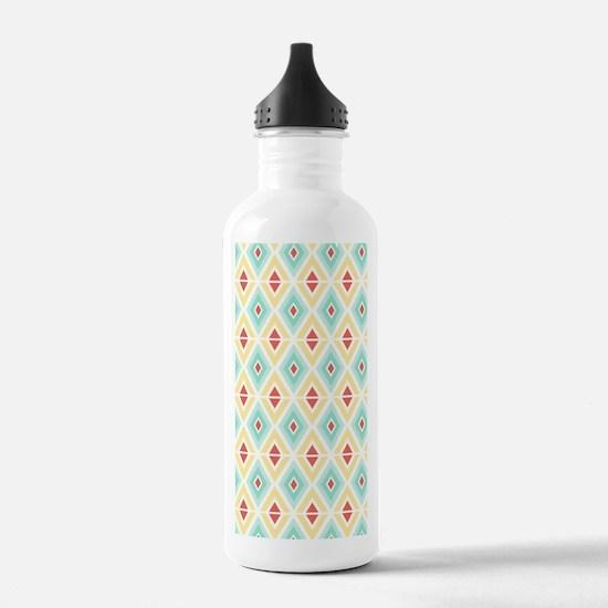 Abstract Pastel Geomet Water Bottle