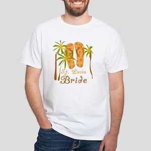 St. Lucia Bride White T-Shirt