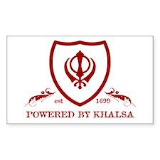 Powered by Khalsa - Rectangle Sticker