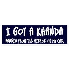 I GOT A KHANDA. Bumper Sticker