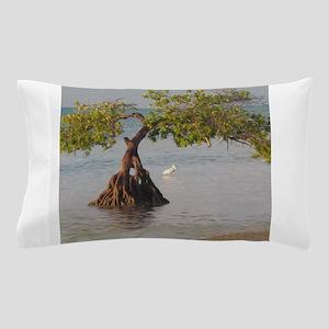 Beach Tree and Shorebird Pillow Case