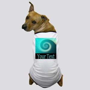Personalizable Teal Wave Dog T-Shirt