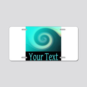 Personalizable Teal Wave Aluminum License Plate