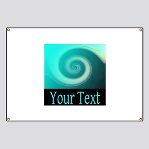 Personalizable Teal Wave Banner