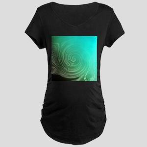 Teal Swirl Maternity T-Shirt