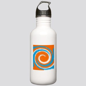 Orange Blue White Spread Water Bottle