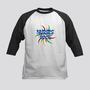 Nurses Rock Kids Baseball Jersey