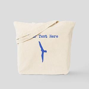 Distressed Blue Seagull (Custom) Tote Bag