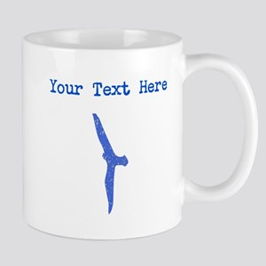 Distressed Blue Seagull (Custom) Mugs