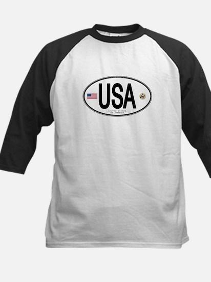 USA Euro-style Country Code Kids Baseball Jersey