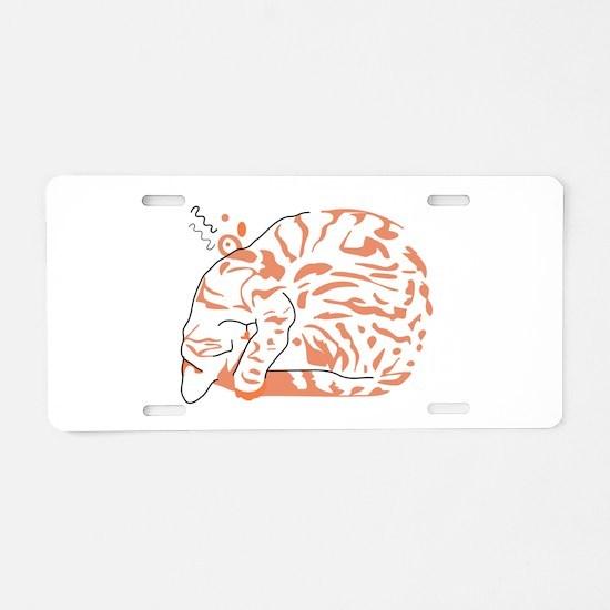 Tabby cat Aluminum License Plate
