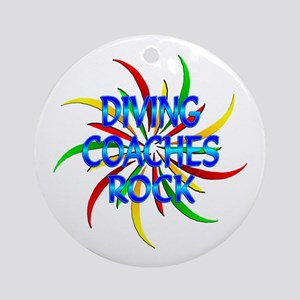 Diving Coaches Rock Ornament (Round)
