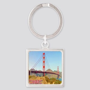Discover the World: Golden Gate Br Square Keychain