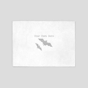 Distressed Grey Bats (Custom) 5'x7'Area Rug