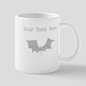 Distressed Grey Bat (Custom) Mugs