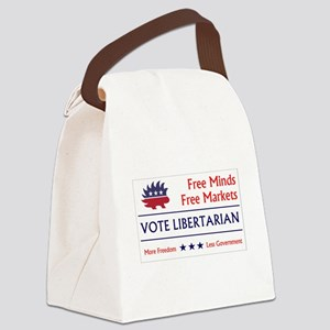 Vote Libertarian 2 Canvas Lunch Bag