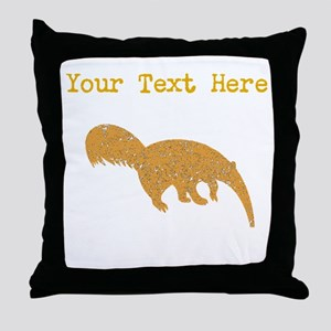 Distressed Brown Anteater (Custom) Throw Pillow