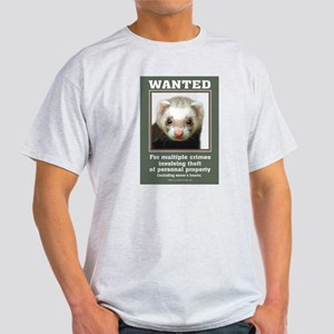 Ferret Wanted Poster Light T-Shirt