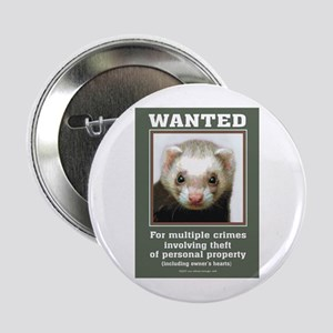 Ferret Wanted Poster Button