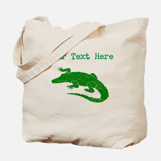Distressed Green Alligator (Custom) Tote Bag
