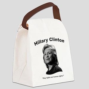 Hillary: GayRights Canvas Lunch Bag