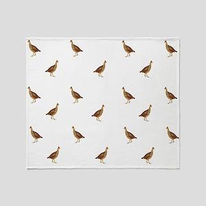 Prairie Chickens Throw Blanket