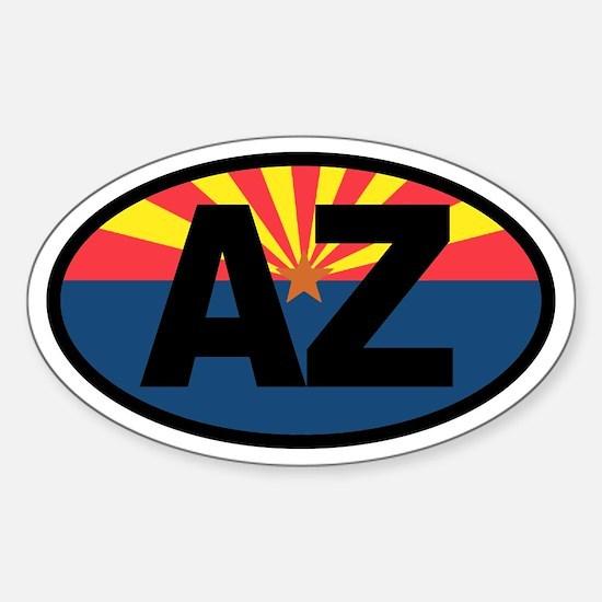 Arizona Flag Oval Decal