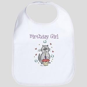 Birthday Girl Cat - Bib