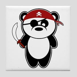 Pirate Panda Tile Coaster