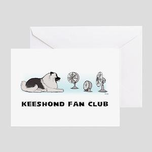 Keeshond Fan Club Greeting Card