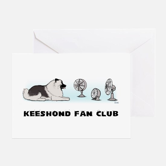 Keeshond Fan Club Greeting Card