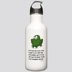 EAT A FROG.  MARK TWAI Stainless Water Bottle 1.0L